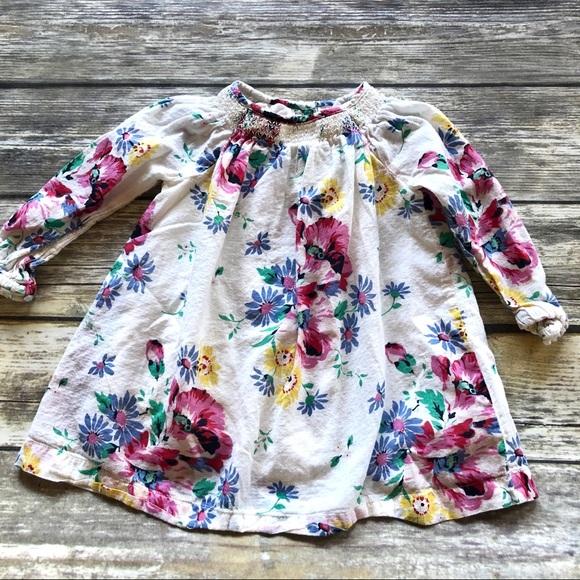 GAP Long Sleeve Floral Dress Size 12-18 Months